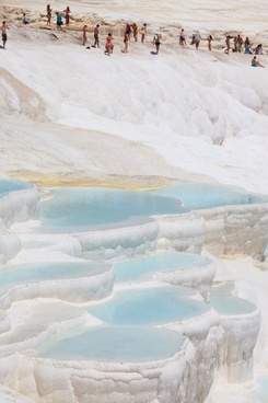 people in pamukkale