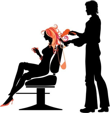 people silhouette vector the trend of hair