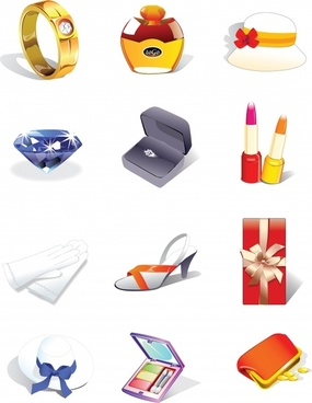perfume vector icons ring
