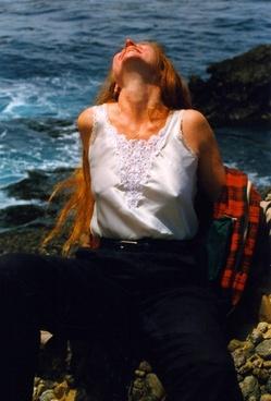 perky redhead at pebble beach