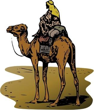 Person Riding Camel clip art