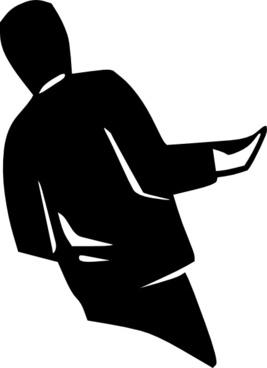 Person Standing Silhouette clip art