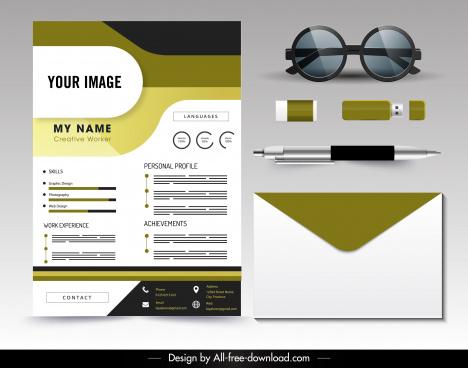 personal cv template elegant modern flat decor