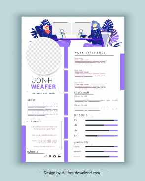 personal resume template bright modern layout