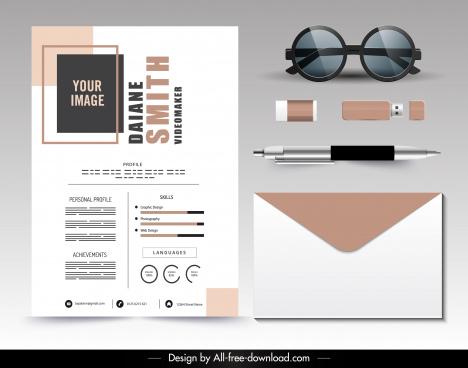 personal resume template modern elegant plain decor