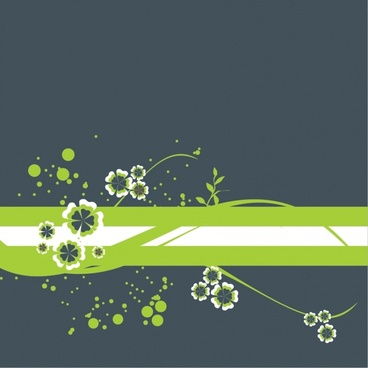 flowers background design elements green flat petals icons