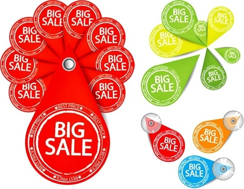 personalized sales tag vector