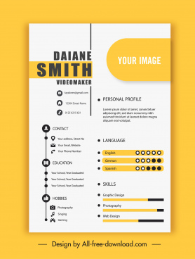 personnel cv template bright decor elegant modern
