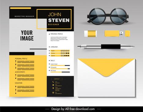personnel resume template elegant decor modern design