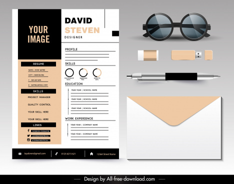 personnel resume template modern elegant decor