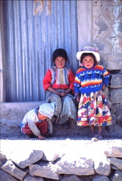 peru children colorful