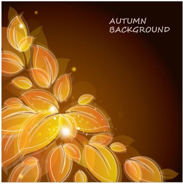 autumn background template dark twinkling decor blurred leaves
