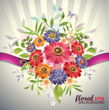 petals background modern colorful blooming sketch