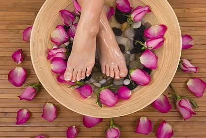petal foot bath picture