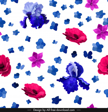 petals background colorful floating sketch