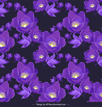petals background dark violet blooming decor