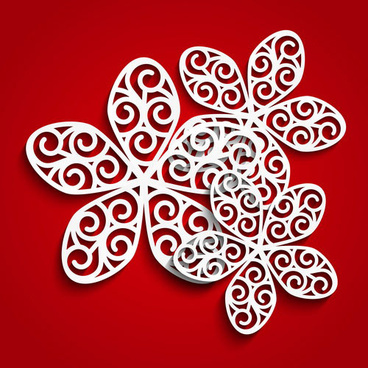 petals flowers vector red background