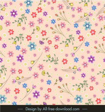 petals pattern colorful flat messy decor