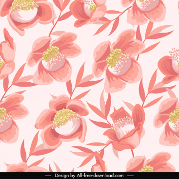 petals pattern template classical repeating handdrawn design