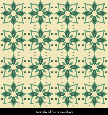 petals pattern template classical repeating sketch green design
