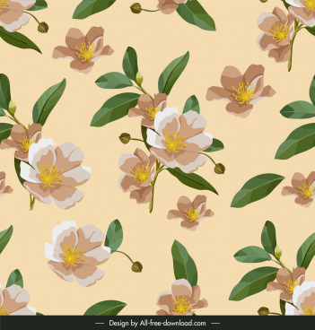 petals pattern template elegant classical design