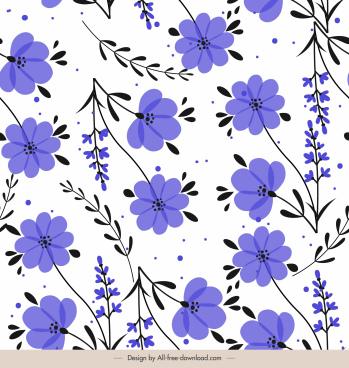 petals templates classic flat repeating violet decor