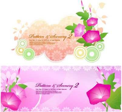 petunia fantasy background art vector