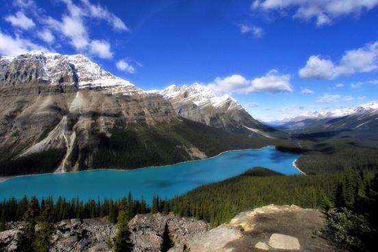 peyto lake canadien rockys mopuntains
