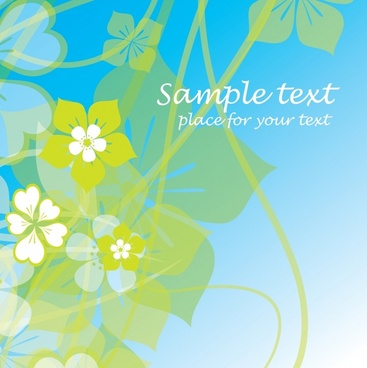 phantom fresh summer flowers vector