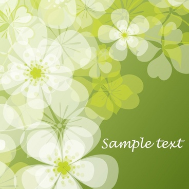 botany background template colored flat blurred decor