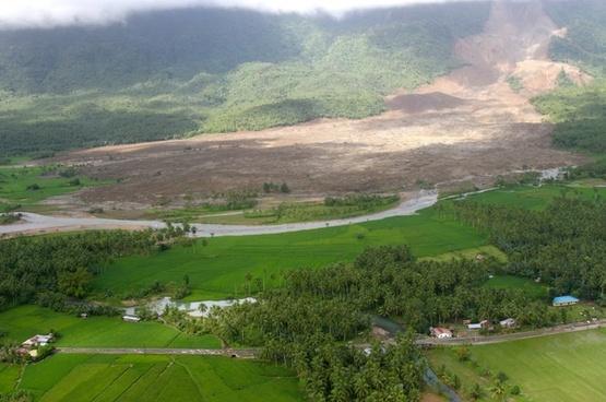 philippines landscape landslide