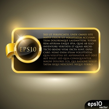 decorative background template luxury shiny golden text frame