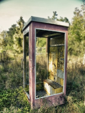 phone booth old nature