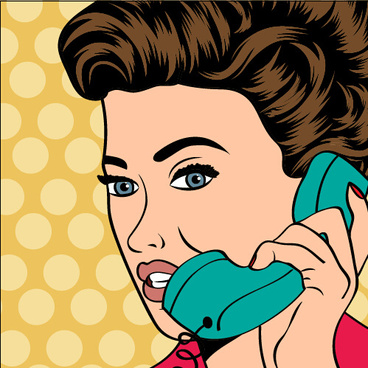 phone call woman vector