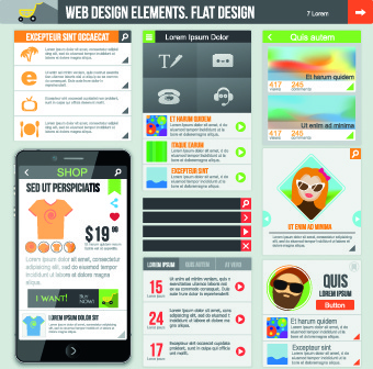 phone website template vector set