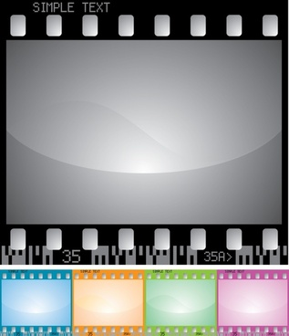 movie design elements filmstrip icon colored flat design