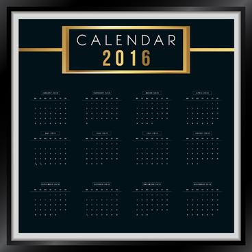 photo frame calendar16 vector