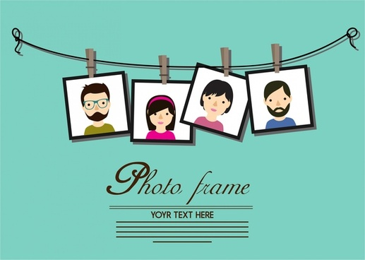 photo frames decoration theme hanging on line style