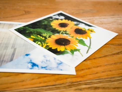 photo prints on desk