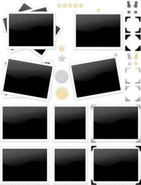 photo stamp icon vector