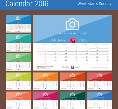 photo with desk calendar16 vector
