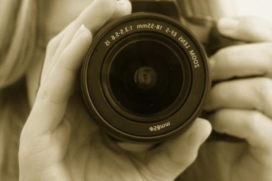 photographer camera lens