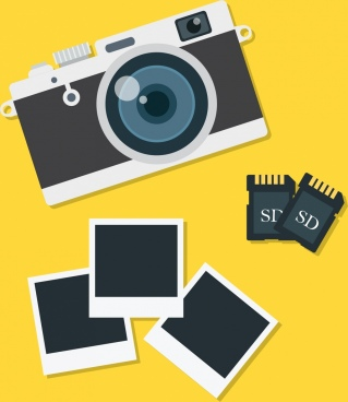 photographing background camera memory cards pictures icons