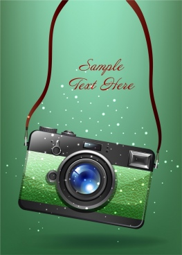 photography background camera icon colored sparking design
