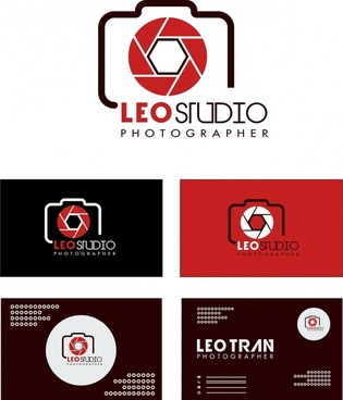 photography studio logo design on various background