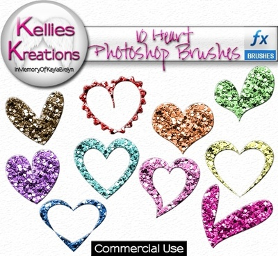 Photoshop Brushes – Hearts