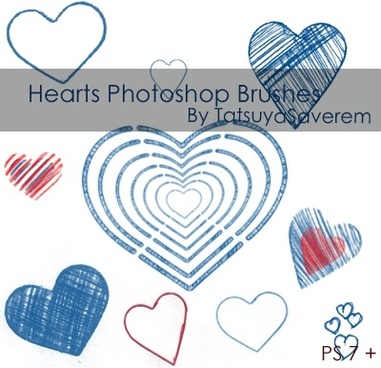 Photoshop Brushes- Hearts