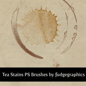 Photoshop Brushes: Tea Stains