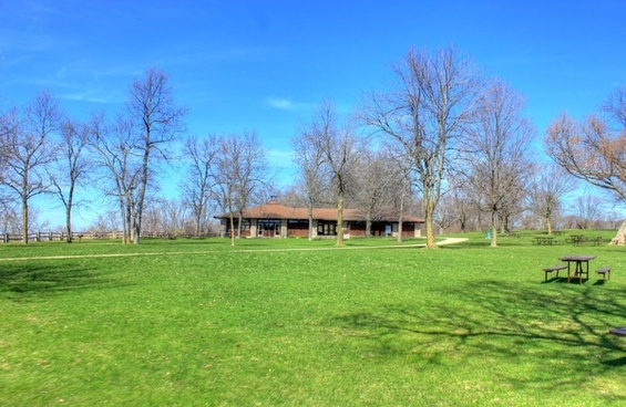 picnic shelter at high cliff state park wisconsin
