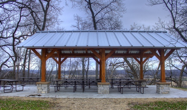 picnic shelter near black earth wisconsin